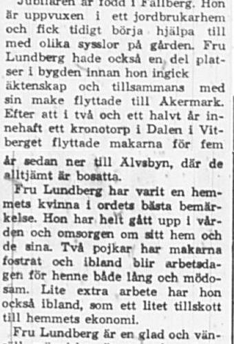 Lundberg Magda Älvsbyn 50 år 30 dec 1965 PT
