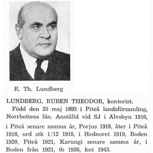 Lundberg Ruben 18930525 Från Svenskt Porträttarkiv