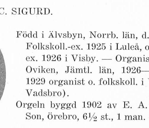 Lundberg Sigurd 19031003 Från Svenskt Porträttarkiv a