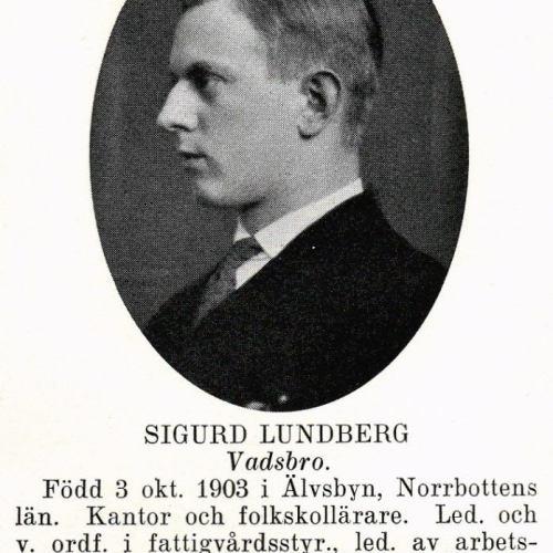 Lundberg Sigurd 19031003 Från Svenskt Porträttarkiv c