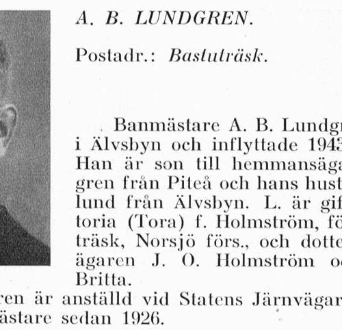 Lundgren Anton Bernhard 1888 Från Svenskt Porträttarkiv