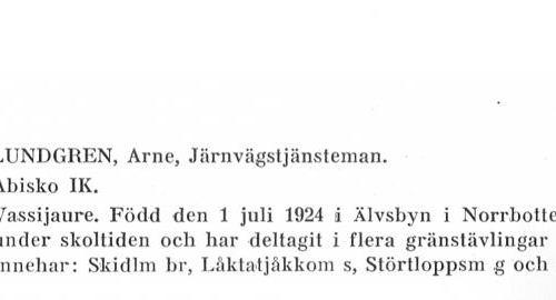 Lundgren Arne 19240701 Från Svenskt Porträttarkiv