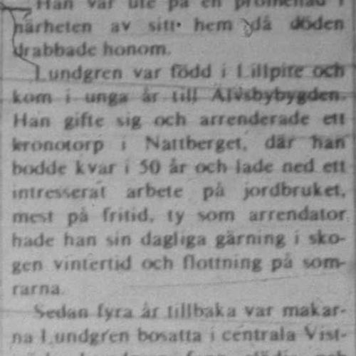 Lundgren Axel Vistträsk död 31 Aug 1972 NK