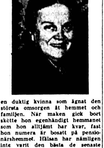 Lundgren Beda Vidsel 70 år 2 mars 1957 Nk