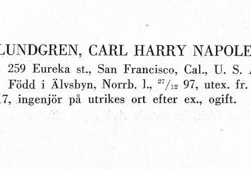 Lundgren Carl 18971227 Från Svenskt Porträttarkiv