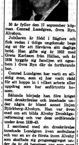 Lundgren Conrad Övrabyn 50 år 16 Sept 1958 NK
