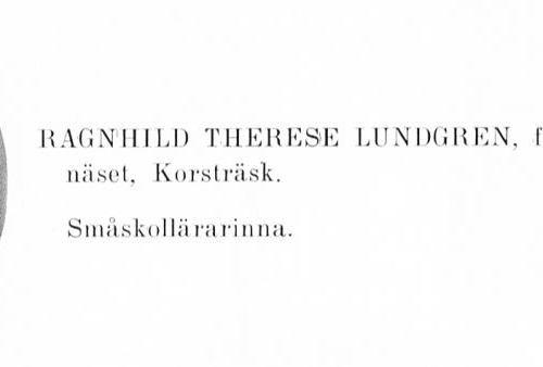 Lundgren-Granberg Ragnhild 19040715 Från Svenskt Porträttarkiv