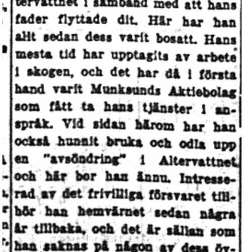 Lundgren Hjalmar Altervattnet 50 år 23  Aug 1954 NK