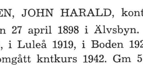Lundgren John Harald Från boken Sveriges Järnvägsstationer tryckt 1949
