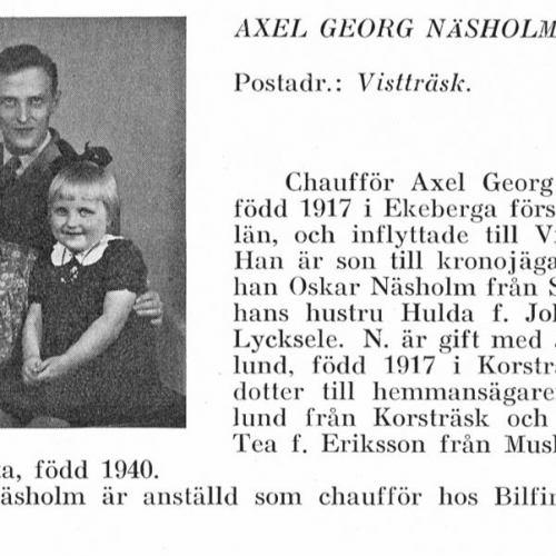 Näsholm Axel & Birgitta & Judith Wiklund Från Svenskt Porträttarkiv