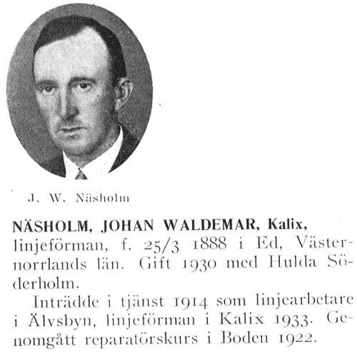 Näsholm Johan 18880325 Från Svenskt Porträttarkiv