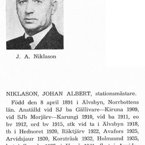 Niklason Johan 18910408 Från Svenskt Porträttarkiv