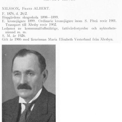 Nilsson Albert 18760226 Från Svenskt Porträttarkiv
