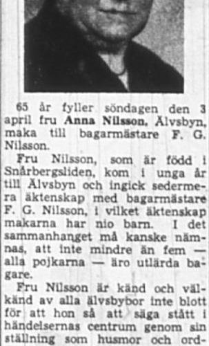 Nilsson Anna Älvsbyn 65 år 2 April 1949 NK