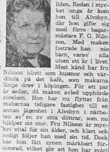 Nilsson Anna Älvsbyn 80 år 2 April 1964 NSD