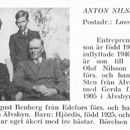 Nilsson Anton & Hjördis & Stig & Gerda Renberg Från Svenskt Porträttarkiv