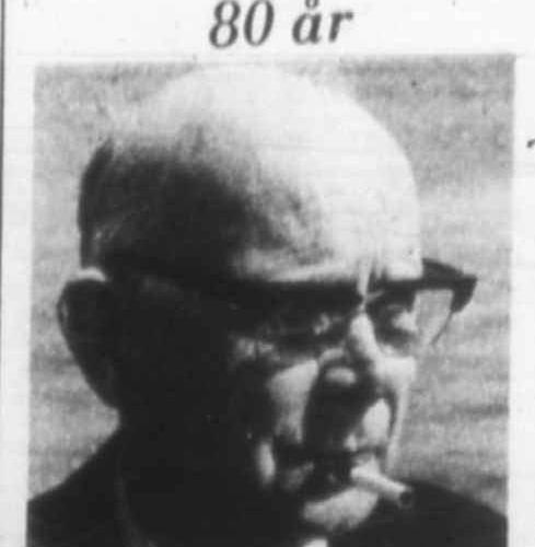 Nilsson Arvid Nystrand 80 år 27 Sept 1976 PT