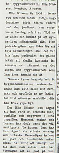 Nilsson Elis Övra byn 60 år 17 sept 1953 PT