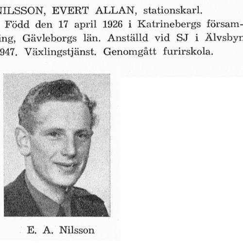 Nilsson Evert 19260417 Från Svenskt Porträttarkiv