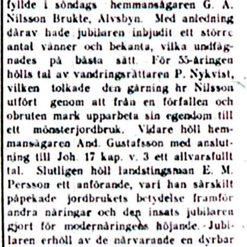 Nilsson G A Brukte 55 år 16 sept 1920 NK
