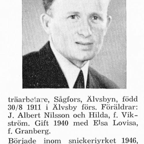Nilsson Harry 19110830 Från Svenskt Porträttarkiv