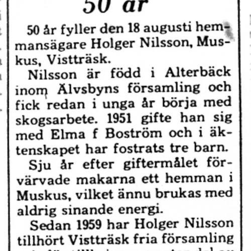Nilsson Holger Muskus 50 år 16 aug 1975 PT