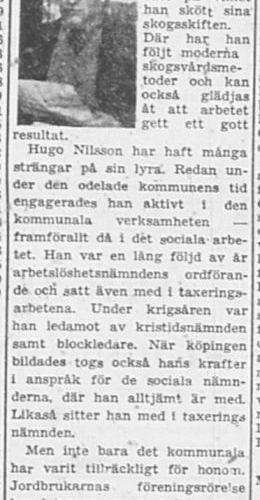 Nilsson Hugo Brukte 60 år 17 Jan 1957 PT