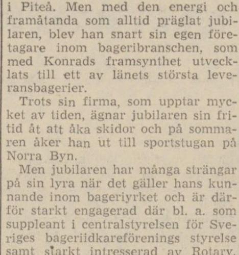 Nilsson Konrad Älvsbyn 50 år 30 juli 1964 NFL