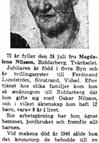 Nilsson-Magdalena-Riddarberg-75-ar-23-Hurtigs-forsta-buss-23-Juli-1958-nk