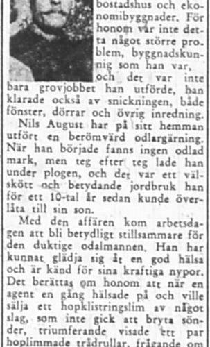 Nilsson Nils August Korsträsk 80 år 27 Aug 1957 PT