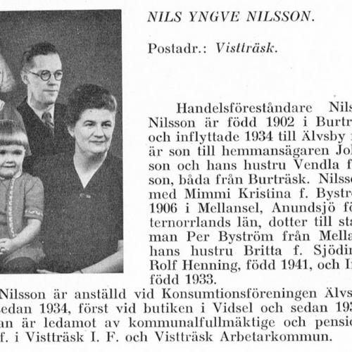 Nilsson Nils & Rolf Henning & Inga-Britt & Britta Sjödin Från Svenskt Porträttarkiv