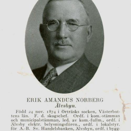 Norberg Erik Amandus Älvsbyn