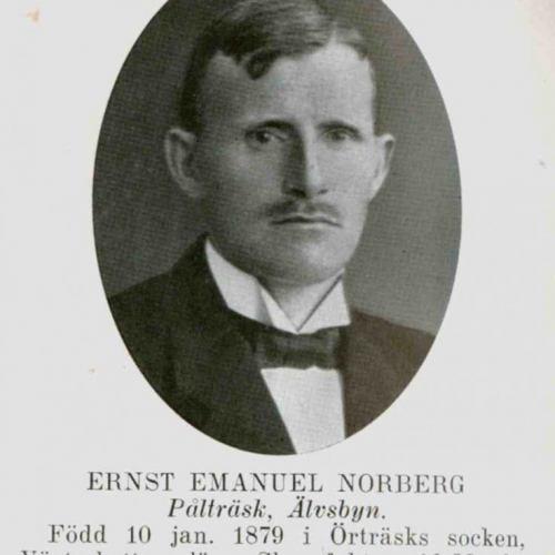 Norberg Ernst Emanuel Pålträsk Älvsbyn