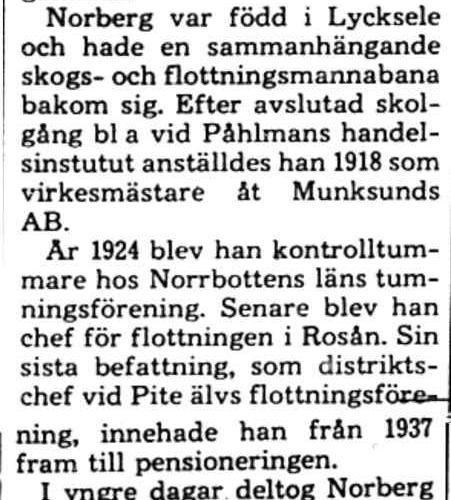 Norberg Gösta Älvsbyn död 9 Jan 1975 PT