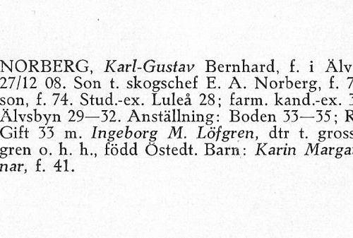 Norberg Karl-Gustav 19081227 Från Svenskt Porträttarkiv a
