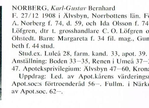 Norberg Karl-Gustav 19081227 Från Svenskt Porträttarkiv b