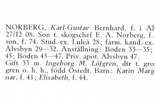 Norberg Karl-Gustav 19081227 Från Svenskt Porträttarkiv c