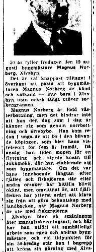 Norberg Magnus Älvsbyn 50 år 16 Aug 1949 NK