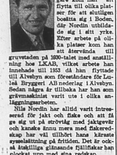 Nordin Nils Älvsbyn 60 år 17 Dec 1965 PT