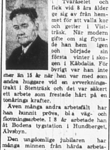 Nordlund Anselm Älvsbyn 75 år 3 Mars 1965 PT