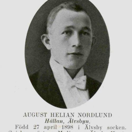 Nordlund August Helian Hällan Älvsbyn