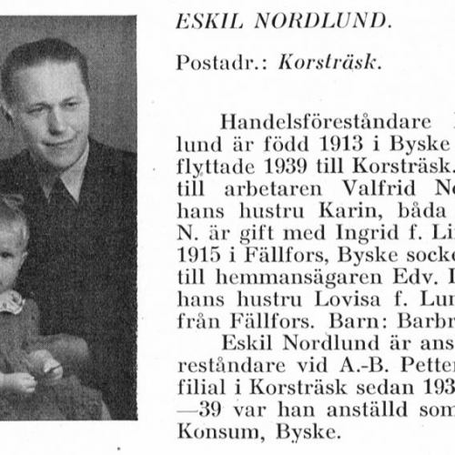 Nordlund Eskil & Barbro & Lindgren Ingrid Från Svenskt Porträttarkiv