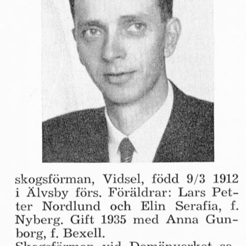 Nordlund Gunnar 19120309 Från Svenskt Porträttarkiv