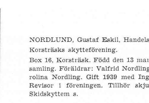 Nordlund Gustaf 19130313 Från Svenskt Porträttarkiv