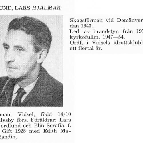 Nordlund Hjalmar 19011014 Från Svenskt Porträttarkiv