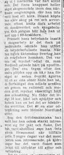 Nordlund Johan Helmer Övrabyn Älvsbyn 75 år 12 Sept 1957 NSD