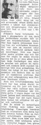 Nordlund Johan Helmer Övrabyn Älvsbyn 75 år 12 Sept 1957 PT