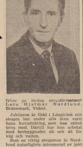 Nordlund Lars Hjalmar Brännmark 60 år 13 Okt NFL