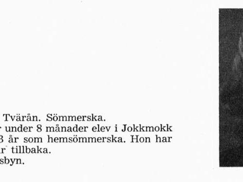 Nordlund Svea 19240520 Från Svenskt Porträttarkiv