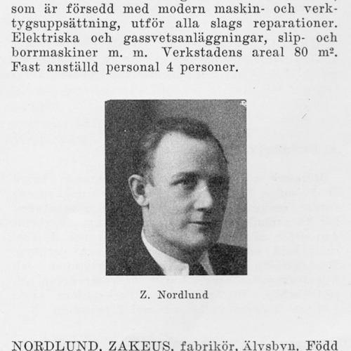 Nordlund Zakeus 19000815 Från Svenskt Porträttarkiv